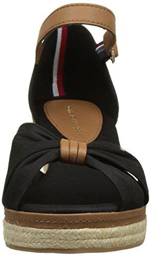 E1285lba Hilfiger Tommy Negro 40d Sandalias black Mujer Con Para Plataforma 990 6ZFFpxq