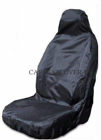 Single Airbag Friendly Heavy Duty Black Waterproof Car Seat Cover
