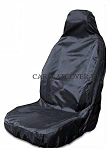 DUTY BLACK WATERPROOF SINGLE SEAT COVER PREMIUM QUALITY H VW Caddy Maxi Life