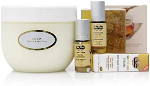 Glutax Miracle Body Cream with 2 Belle Nubian Serum +1 Collagen and Honey Soap