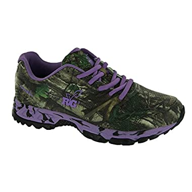 Womens's RealTree Girl by Realtree, Mamba walking Shoes PURPLE LIME 9 M