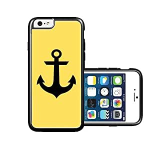 RCGrafix Brand Lemon Yellow black anchor iPhone 6 Case - Fits NEW Apple iPhone 6 by icecream design