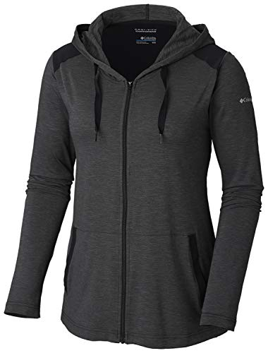 Columbia Women's Place to Place Full Zip, Black Heather, X-Large ()