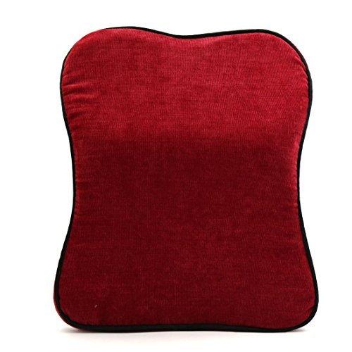 eDealMax Rouge en Forme de Mousse mmoire Convex Oreiller Coussin Pour le repos de Soutien automatique de Voiture