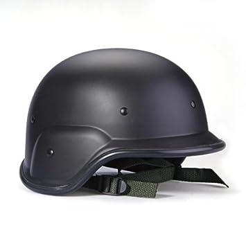 Casco Tactico Militar Swat Helmet Negro Protector Correas Ajustables
