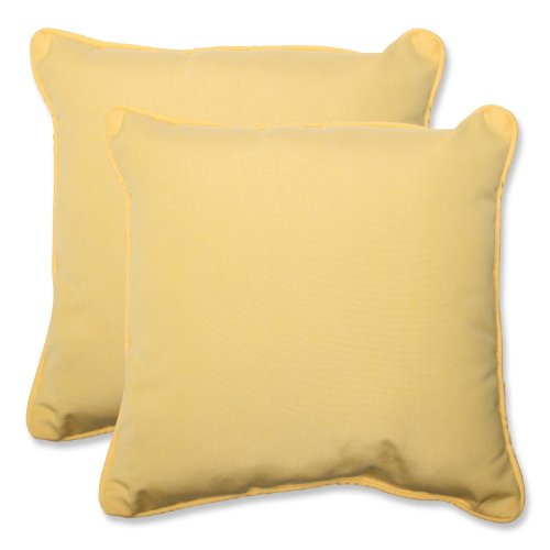 Pillow Perfect Yellow Sunbrella 18 5 Inch