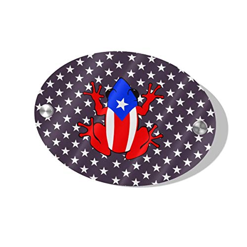 (Layapan Door Sign Puerto Rico PR Coqui Arm Wall Decorative Signs Plaques for Offices Hotels Stores Home Decor)