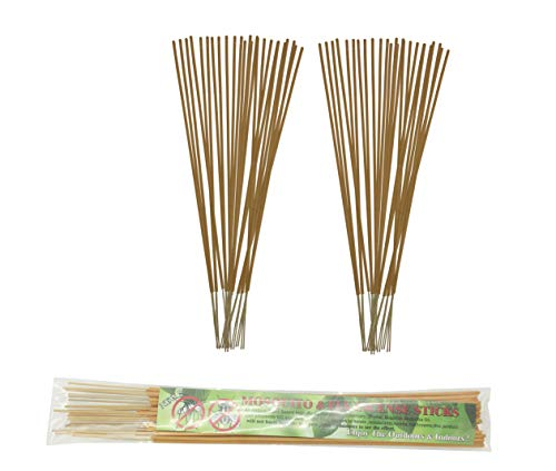 All-Natural Mosquito and Fly Repellent Incense Sticks - Citronella, Rosemary, Thyme, Brazilian Andiroba Oil - 60 Count Scented Sticks (Yellow)