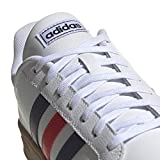 adidas mens Grand Court Tennis Shoe, White/Trace