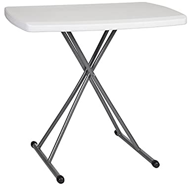 Zimmer 30x20-Inch Adjustable Plastic and Steel Folding Table