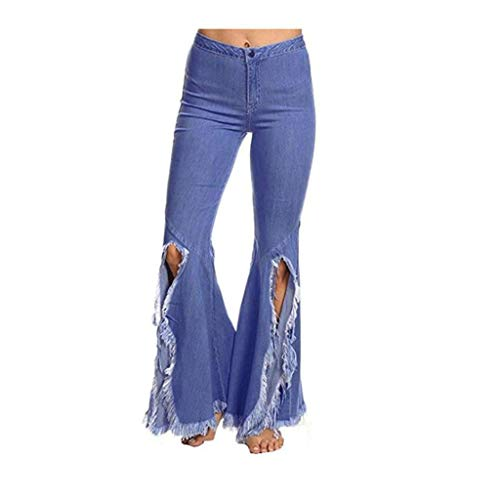 RXF Jeans a vita alta Jeans stretch irregolari blu scuro con nappa 1#