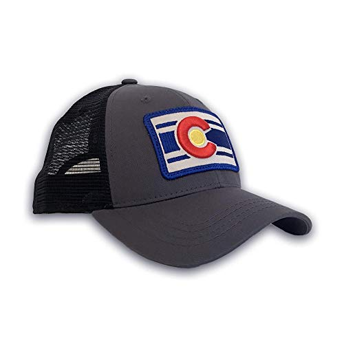 - Colorado Limited Lo Pro Trucker Hat (Black & Charcoal) Unisex Mesh Back Cap with Adjustable Fit for Ultimate Comfort & Style