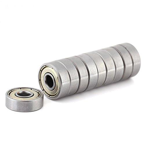 Metal Shielded Bearing - 10Pcs Bearings Metal Shielded Durable Ball Bearing rolamento Multi-Use Carbon Steel Miniature 626ZZ Ball Bearings (6x19x6mm)