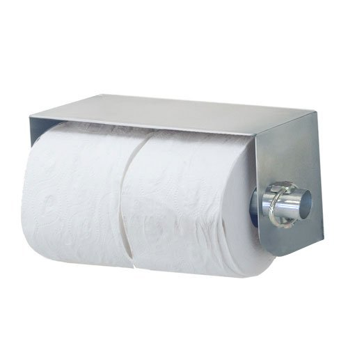 Royce Rolls Stainless Steel Standard Double (Two-Roll) Toilet Paper Holder Dispenser - #TP-2 with #TP-CLIP