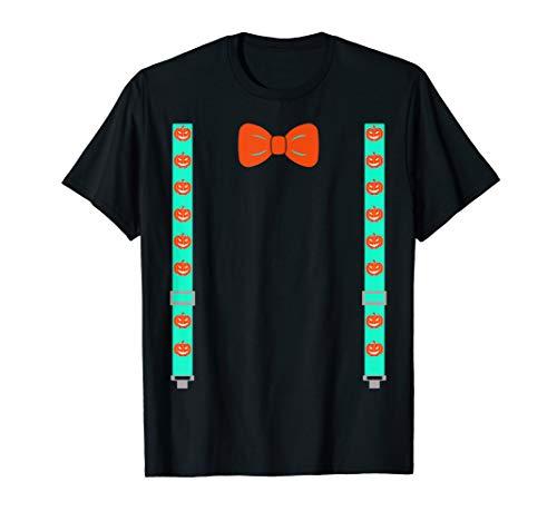 Generic Halloween Costume Geek Nerd BowTie Suspenders Pumpki T-Shirt