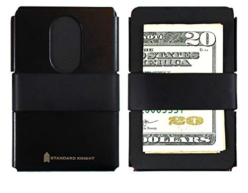 Minimalist Modern Wallet & Credit Card Tool | The Chivalry - Slim Credit Card Wallet with 2 Silicone Bands, RFID Card, Multitool Card, and built in Bottle Opener - Premium Quality, Stainless Steel