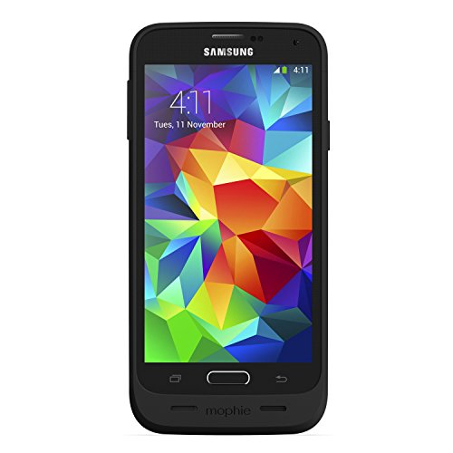 mophie 2324 Juice Pack External Rechargable Cell Phone Battery Case for Samsung Galaxy S5 (3,000 mAh) - Black