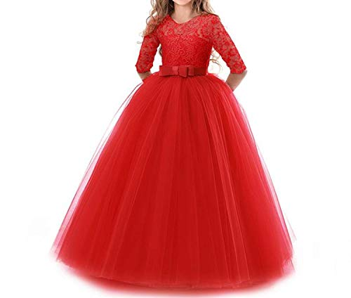 (Flower Girl Wedding Evening Party Dresses Kids Dresses for Girls Princess)