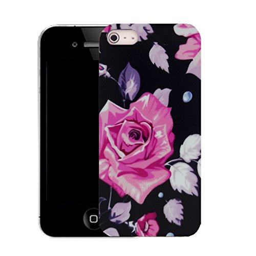 Mobile Case Mate iPhone 5c clip on Silicone Coque couverture case cover Pare-chocs + STYLET - flower bud pattern (SILICON)