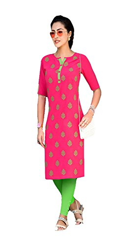 Jayayamala Lovely Pink Cotton Bestickte Tunika Kleid Für Damen Tunika