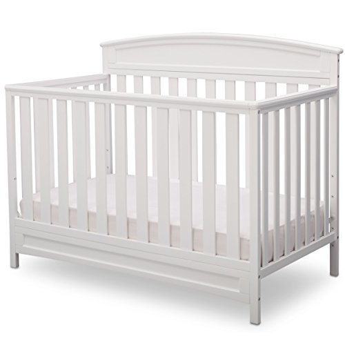 Delta Children Sutton 4-in-1 Convertible Baby Crib, White