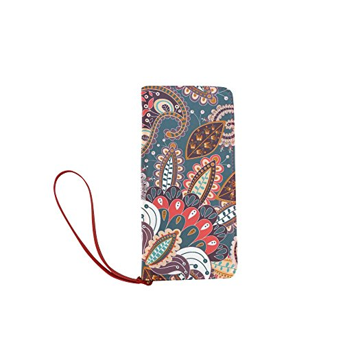 Women's Bohemian Hippie Clutch Wallet Purse with Wrist Strap from FranziBla