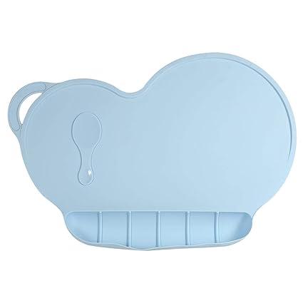 Mantel Silic/ón para Ni/ños y Beb/és Azul claro Mantel Individual para beb/és Estera antirresbaladiza Silicona impermeable Alimentador de ni/ños con ventosa para ni/ños