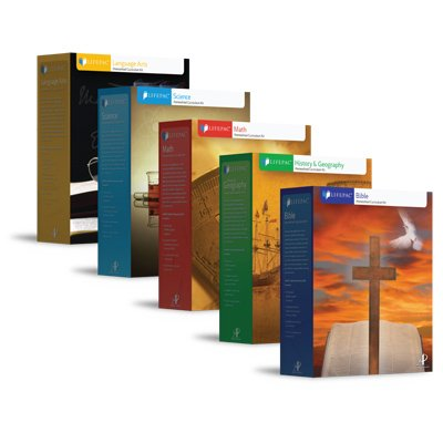 LifePac, Grade 5, AOP 5-Subject Box Set - Math, Language, Science, Bible & History / Geography, Alpha Omega, 5TH GRADE, HomeSchooling CURRICULUM, New Life Pac