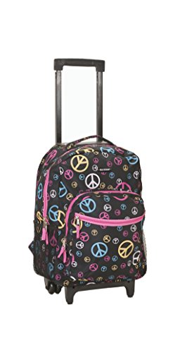 Rockland Luggage 17 Inch Rolling Backpack, Peace, Medium by Rockland (Image #2)