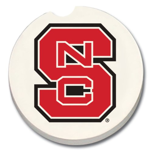 NCAA North Carolina State Wolfpack Absorbent Car Coaster (Car State North Carolina)