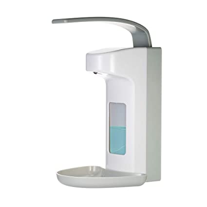 Decdeal 500ml Dispensador de Jabón de Codo,Manual Dispensador de Líquido de Pared Dispensador de