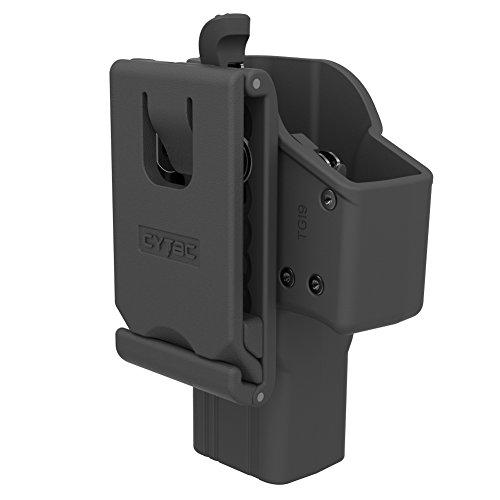 Polymer Gun Holster Trigger Release Adjustable Cant Holsters, Matte Finish OWB Tactical Pistol Holster for Glock 19 23 32 (Belt Loop - Thumb Release)