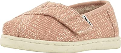 TOMS Kids Baby Girl's Alpargata (Infant/Toddler/Little Kid) Rose Cloud Oblique Woven/Faux Shearling 5 M US Toddler
