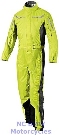 BMW Genuine Motorcycle Unisex ProRain Rain Overall Riding Unisex Suit Yellow 3XL