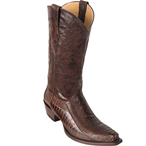 Original Brown Ostrich Leg Skin Snip-Toe Boot
