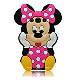 G530 Case,Galaxy Grand Prime Minnie Case,Tribe-Tiger 3D Cute Cartoon Mouse Minnie Soft Silicon Gel Rubber Case Cover Skin for Samsung Galaxy Grand Prime G530/G5308/G5306W/G530H/DS(Pink Minnie)