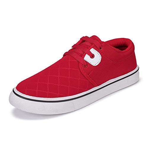2ROW Men's Canvas Red Sneakers (8) (B08D3F49XT) Amazon Price History, Amazon Price Tracker