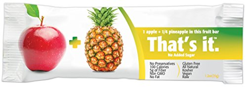 Pineapple Bar - That's It Nutrition Bar Apple + Pineapple 12 Bars (1.2oz Each), 12 Count