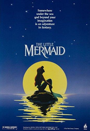 Disney's The Little Mermaid Movie Walt Disney Disneyland Princess Vintage Art Poster advertisement. Poster measures 10 x 13.5 - Movie Disney Poster