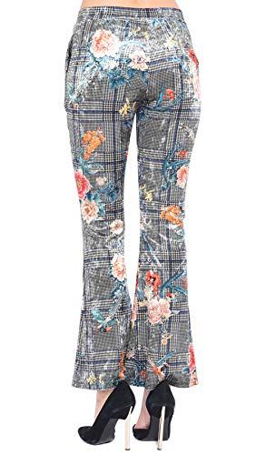 En Femme 101 Gris Imprimée Velours Pantalon Idees Exww6q8CA