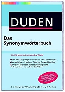 duden das synonymw rterbuch 1 cd rom software. Black Bedroom Furniture Sets. Home Design Ideas