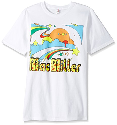 FEA Men's Mac Miller Star and Sun Logo Soft T-Shirt, White, - Apparel Miller Mac