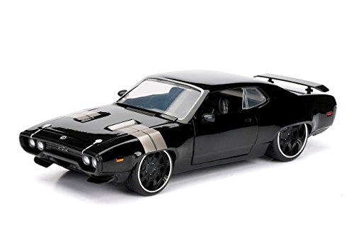 Jada Toys Fast & Furious 8 Diecast Dom's Plymouth GTX Vehicle (1:24 Scale) (Diecast Model Cars)