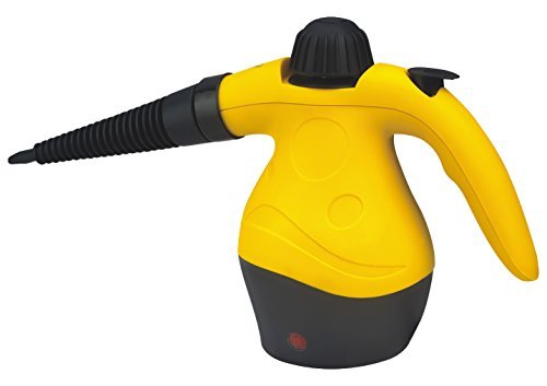 PYRUS Handheld Steam Cleaner Multi-purpose Pressurized Steam Cleaner Chemical Free Cleaning for Bathroom, Kitchen, Surfaces, Floor, Carpet Toilets Germ Killer (Yellow)