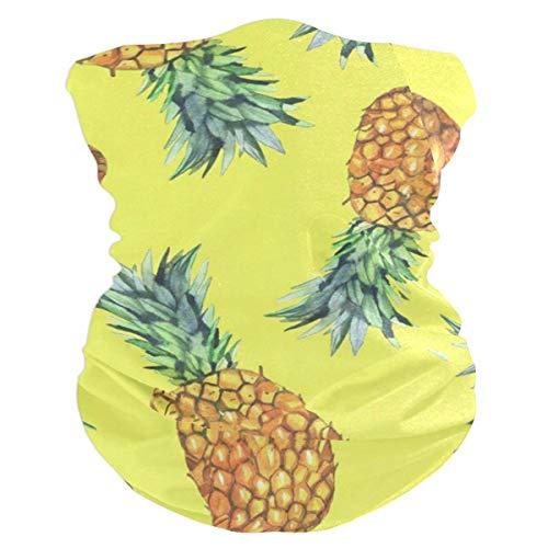 Watercolor PineappleBalaclava Womens Headband Scarf Mens Bandana,Muffler,Neck Gaiter,Magic,Wristband Sweatband ()