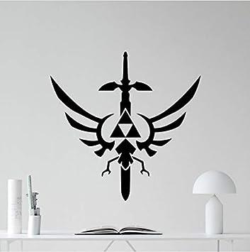 73X72cm Legend Of Zelda Tatuajes de Pared Símbolo Trifuerza ...