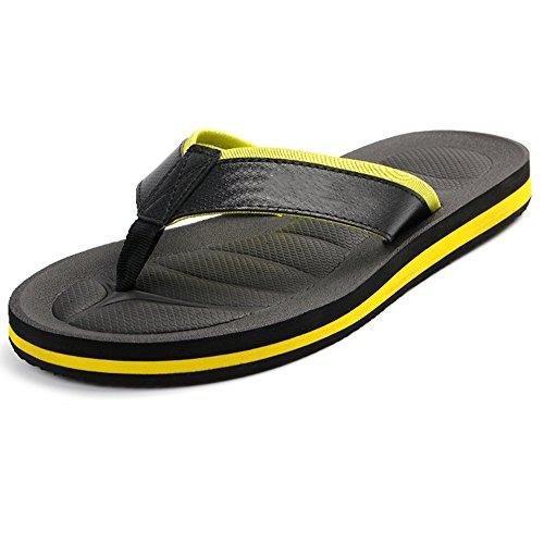XIAOLIN Zapatillas de los hombres de verano antideslizante talón plano sandalias de moda zapatos de playa Europa y los Estados Unidos (tres colores para elegir) (tamaño opcional) ( Color : 02 , Tamaño 02