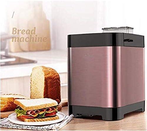 GJNWRQCY Machine à pain automatique multifonction en acier inoxydable de la machine à pain, programmable, 18 réglages, 3 Crust couleurs, réserve et maintien Set Warm