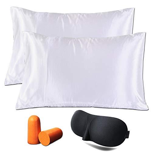 Amazon Com Puqin Satin Pillowcase For Hair Beauty Silk