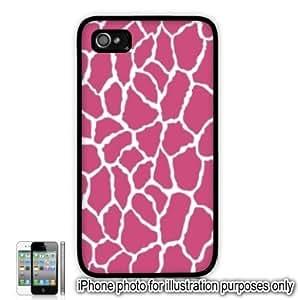 Pink Giraffe Animal Print Pattern Apple iPhone 4 4S Case Cover Skin Black